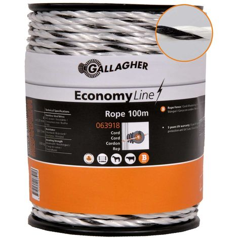 Gallagher 5mm Professional ECO Power Line Rope with 5 0.2mm Stainless Steel Conductors Gallagher