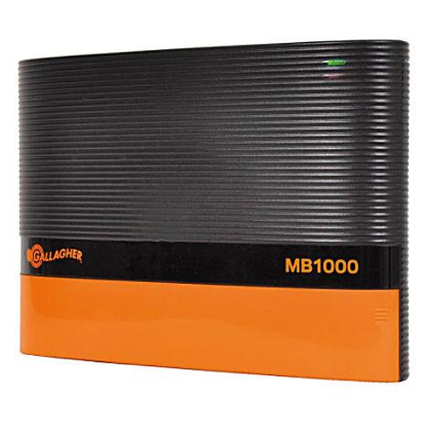 Gallagher MultiPower MB1000, électrificateur à batterie 12 et 230V pour clôtures jusqu'à 15 km