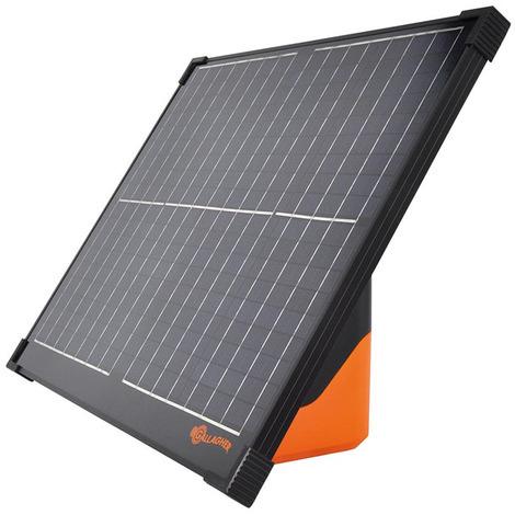 Gallagher S400 Solarelektrik mit 2 Batterien und integriertem Panel für Solarstr