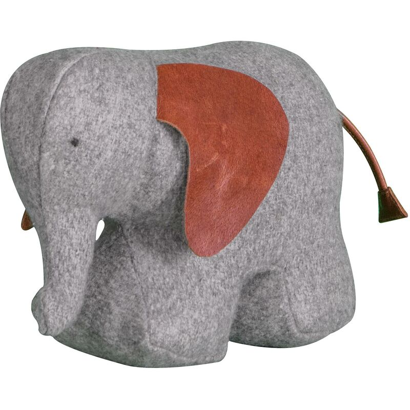 Image of Ethan Elephant Doorstop Weighted Door Stopper Filled Heavy Ornament - Gallery Direct