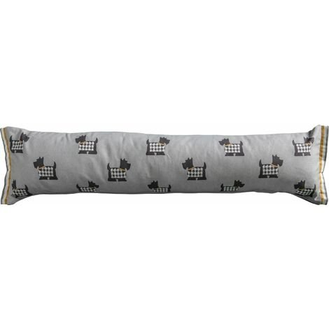 """main image of """"Gallery Direct Scottie Dog Draught Excluder Grey Door Accessory 22 x 90cm"""""""