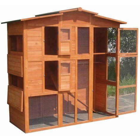 Gallinero conejera jaula para conejos Madera exterior al aire libre corral jaula caseta casa refugio casita para animales pequeños mascotas