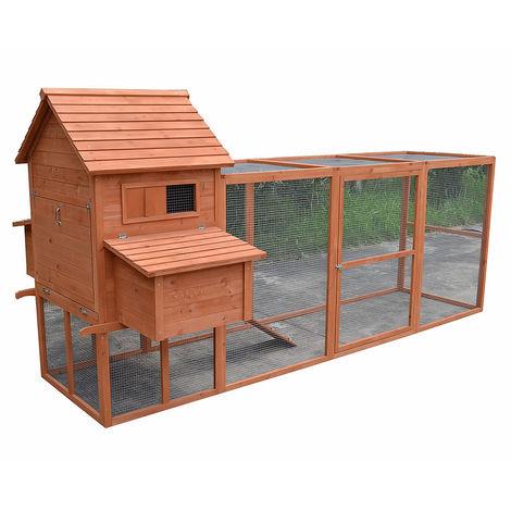 Gallinero corral para gallinas granja corral para ves corral de libre acceso conejera exterior para jardín jaula recinto amplio refugio