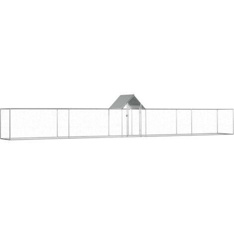 Gallinero de acero galvanizado 9x1x1,5 m