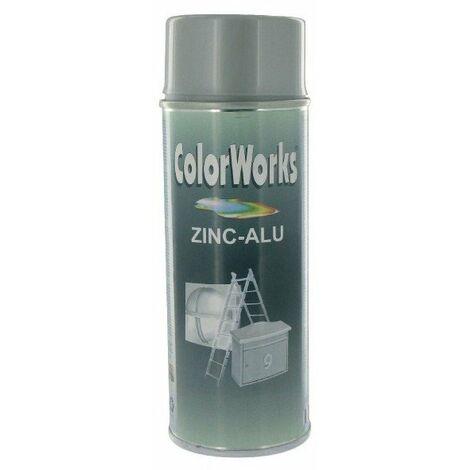 Galvanisation à froid aérosol 400ml - COLORWORKS - Zinc / aluminium