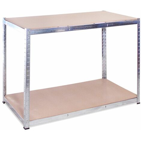 Galvanised Storage Workbench 90 x 120 x 60cm
