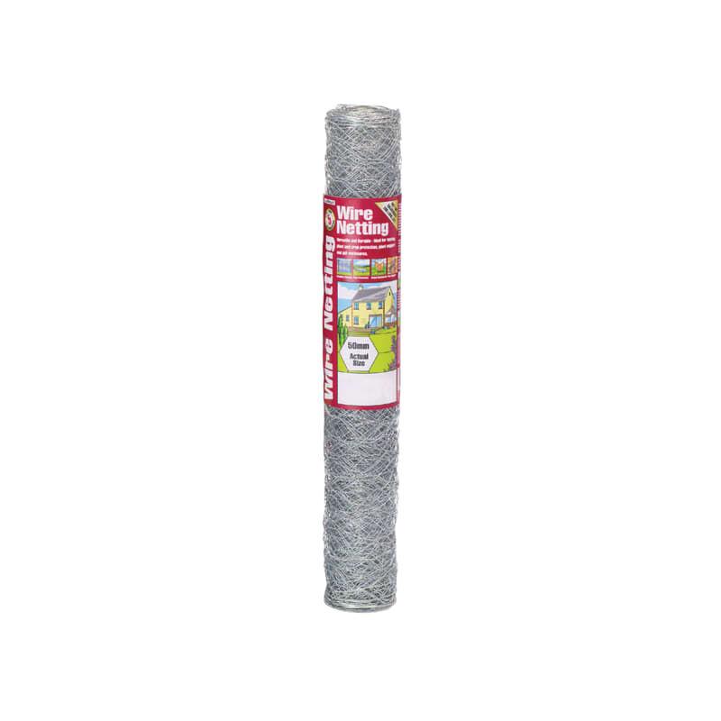Image of Galvanised Wire Netting 50mm Hexagon, 10 X 0.6m