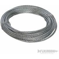 Galvanised Wire Rope - 6mm x 10m (858237)