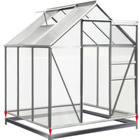 Galvanized Foundation Steel Base Anchor for Greenhouses Sheds 190 x 190 cm
