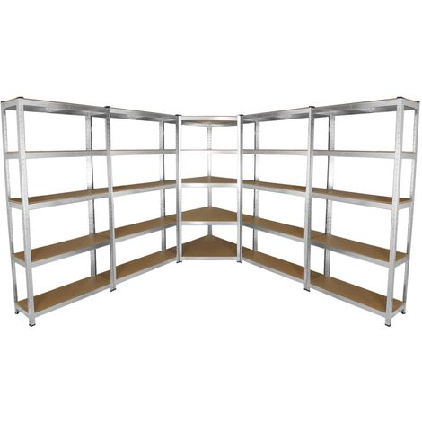 Galwix 90cm Racking Bundle: Corner Shelving and 4 Garage Racking Bays