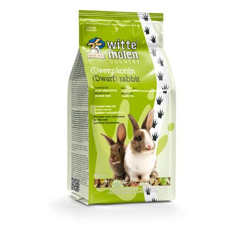 Gama de alimentación Country para conejos enanos de Witte Molen