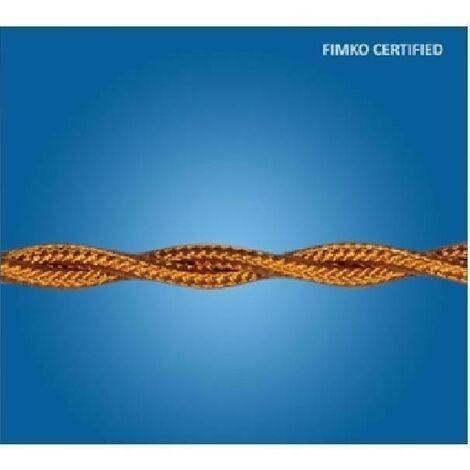 CAVO TRECCIA SETA GAMBARELLI 3X1,5mm MARRONE AL METRO 10310