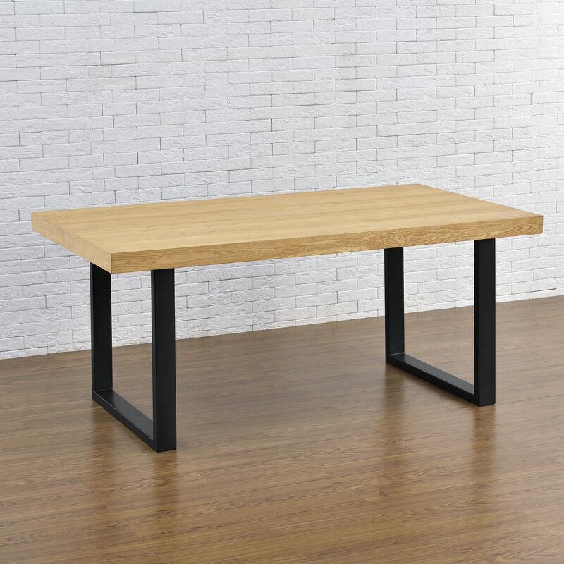 Base per tavolo 80x72 cm verniciatura a polvere nero Telaio per tavoli gambe tavolo