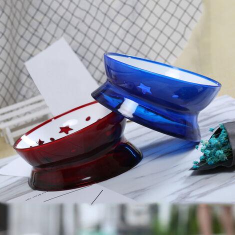 Gamelle chien bol chat nouvel animal de compagnie tilt bol resistant a l'usure face plane antiderapante disponible taureau non toxique sur bol bleu cristal Taille, cristal bleu