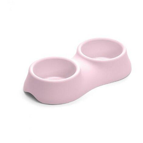 Gamelle plastique double pour chien et chat Désignation : Gamelle plastique double | Capacité : 0.30 litres + 0.4 litres MORIN 253100
