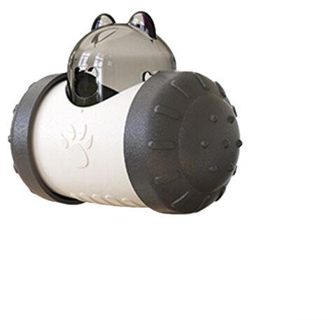 Gamelle pour chien de compagnie jouet gobelet lente fuite de nourriture balle Interactive dentition jouer formation jouets éducatifs pour chat chaton chiot noir