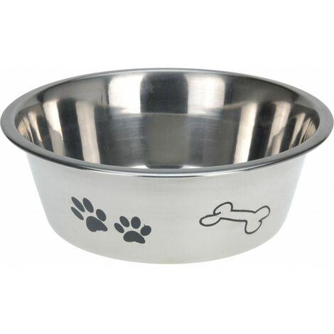 Gamelle pour chien en inox - 1,75 L - Gris - Livraison gratuite