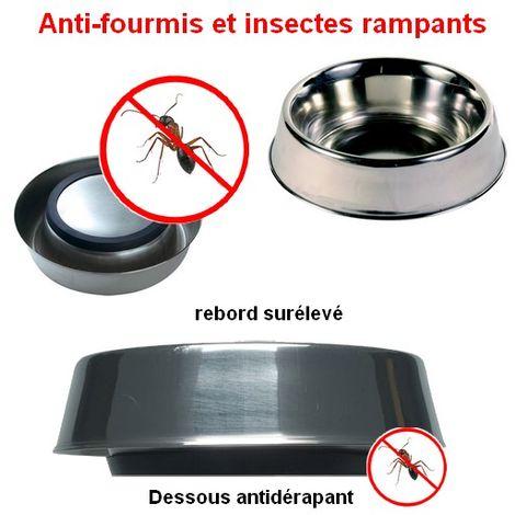 Gamelle pour chien en inox anti-fourmis Désignation : Gamelle | Diam. Ext. : 15.5 cm | Capacité : Gamelle MORIN 361