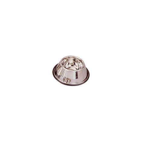 Gamelle pour chien en inox conique anti-glisse. Désignation : Gamelle inox conique anti-glisse - spécial cocker | Diam. Ext. : 15 cm | Capacité : Gamelle inox conique anti-glisse - spécial cocker MORIN 153-127