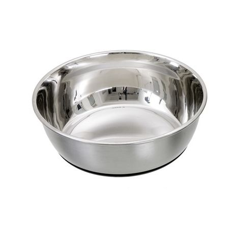 Gamelle pour chien lourde Inox Grip Désignation : Gamelle | Diam. Ext. : 21 cm | Capacité : Gamelle MORIN 43096