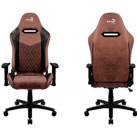 Gamer chair aerocool duke punch red aerosuede pour un confort maximal cuir synthétique de première qualité, motifs en fibre de carbone et bascules ajustables en diamant