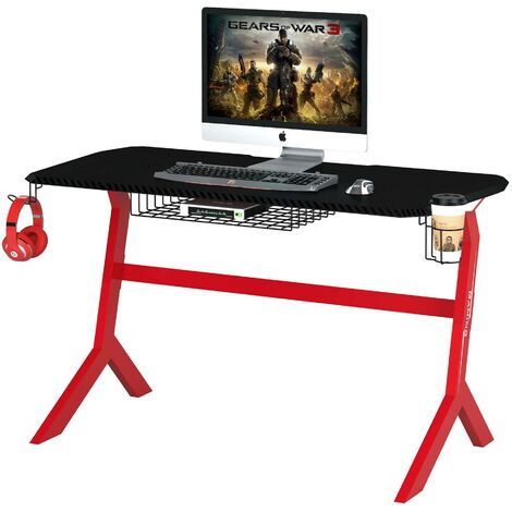 """main image of """"Gaming and Computer Desk & Table for Home Office - Piranha Furniture Sherman - Red"""""""