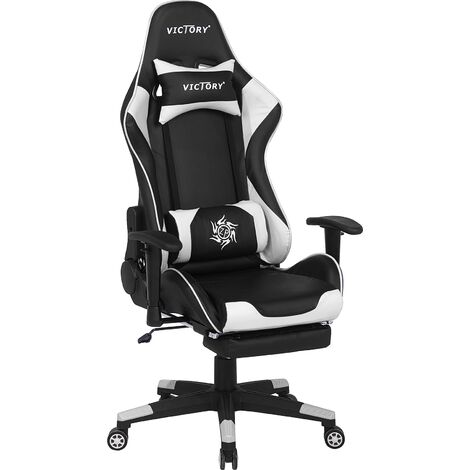 Gaming Chair Black and White VICTORY