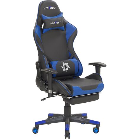 Gaming Chair Black with Blue VICTORY