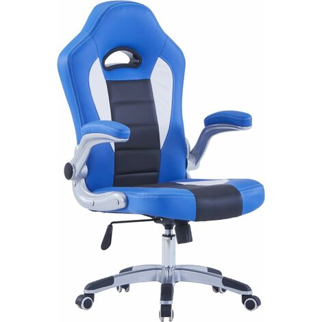 Gaming-Stuhl Blau Kunstleder