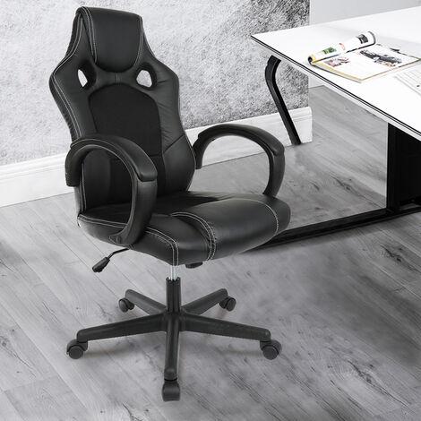 Gaming Stuhl Bürostuhl Computer Schreibtisch Sportsitz Gaming schreibtischstuhl Chefsessel - Schwarz
