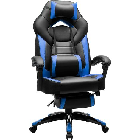 Gaming Stuhl Bürostuhl Schreibtischstuhl Racing Chefsessel Drehstuhl Fußstütze