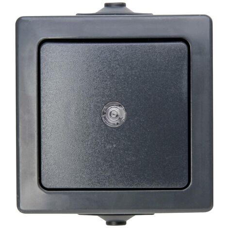 Gamme dinterrupteurs pour pièce humide Kopp Nautic 566315004 anthracite 1 pc(s)