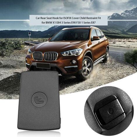 Gancho para asiento trasero de coche para cubierta ISOFIX Ajuste de sujecion para ninos para BMW X1 E84 3 Series E90 F30 1 Series E87, Negro