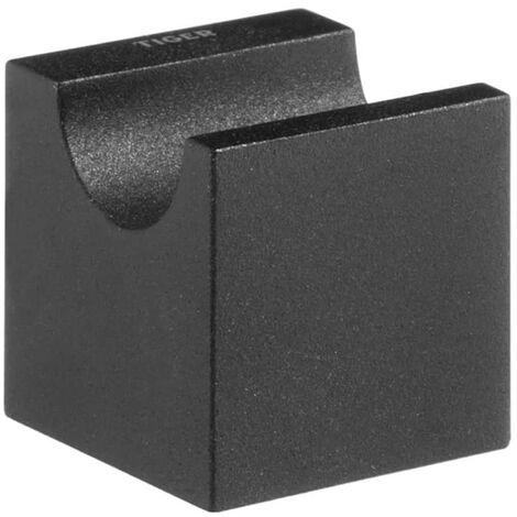 Gancho toallero negro Tiger modelo Nomad 249630746, 4 x 4,4 cm