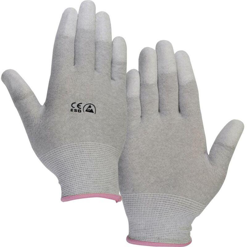 Gant antistatique (ESD) Taille du vêtement: M TRU COMPONENTS EPAHA-RL-M 1571146 avec revêtement sur les doigts Polyamid