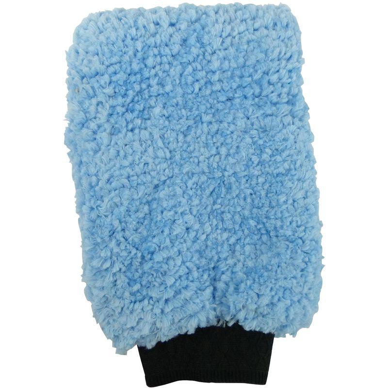 Gant de lavage microfibre - Bleu