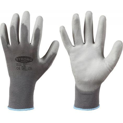 Gant de protection, Nylon, Taille 8, gris (Par 12)