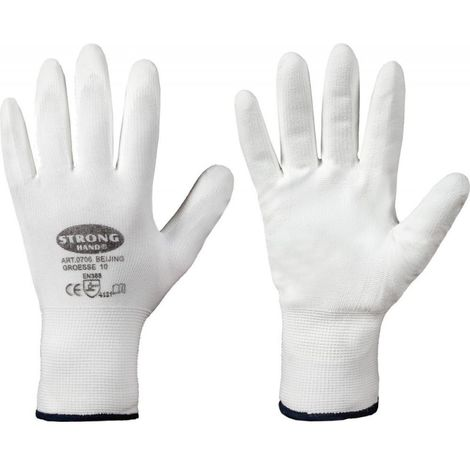 Gant de protection, Nylon, Taille 9, Blanc (Par 12)