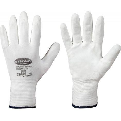 Gant de protection, Nylon, Taille10, Blanc (Par 12)