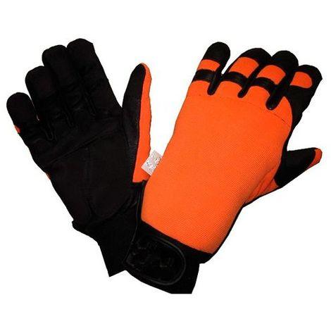 Gant de protection spécial tronçonneuse protection main gauche uniquement type A classe 0 - SOLIDUR