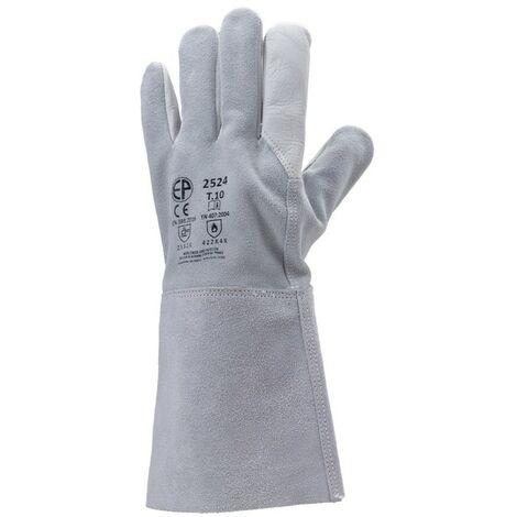 Gant de soudeur - manchette 150 mm - La paire - Eurotechnique - 10