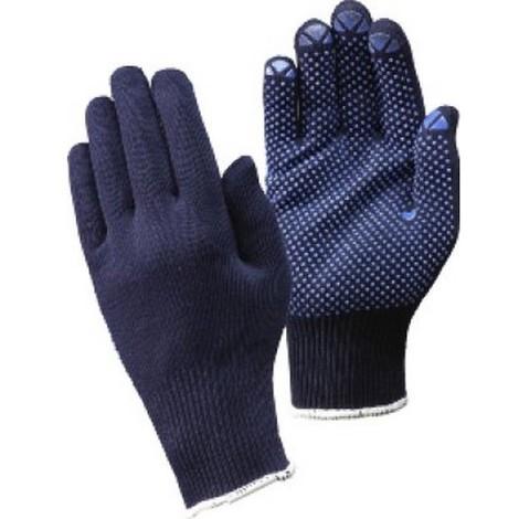 Gant en tricot, coton polyester, bleu, Taille : 7 (par 12)