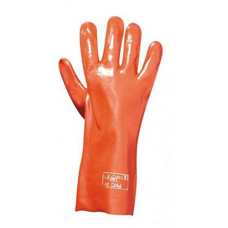 Gant enduit pvc rouge 36 cm