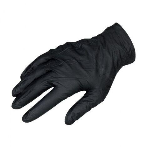 Gant jetable noir - Vendu par 100 - M - Black mamba