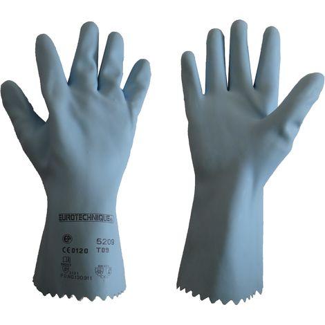 Gant latex bleu Taille 9 - Mob/Mondelin