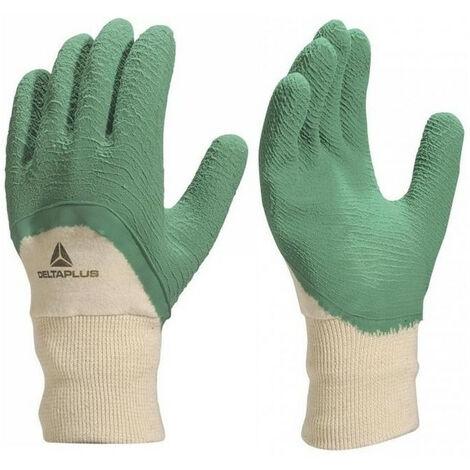 Gants latex crêpés vert LA500 DELTA PLUS (10) - Taille : 10