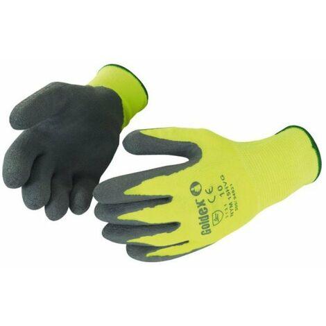 Gant latex gris/jaune fluo sur cavaliert10 19874