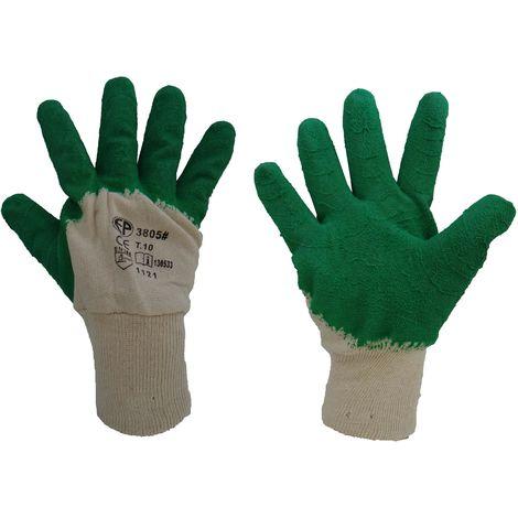 Gant latex vert crêpe Taille 10 - Mob/Mondelin