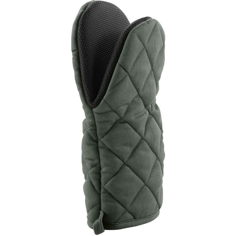 Douceur D'intérieur - Gant pince 24.5 x 14.5 cm polycoton+neoprene cuistot Kaki