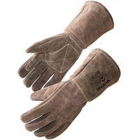 958efbb6f67a1 Gant protection Chaleur et Feu SINGER Taille 10 Cuir tout croute Marron  Renfort paume et index